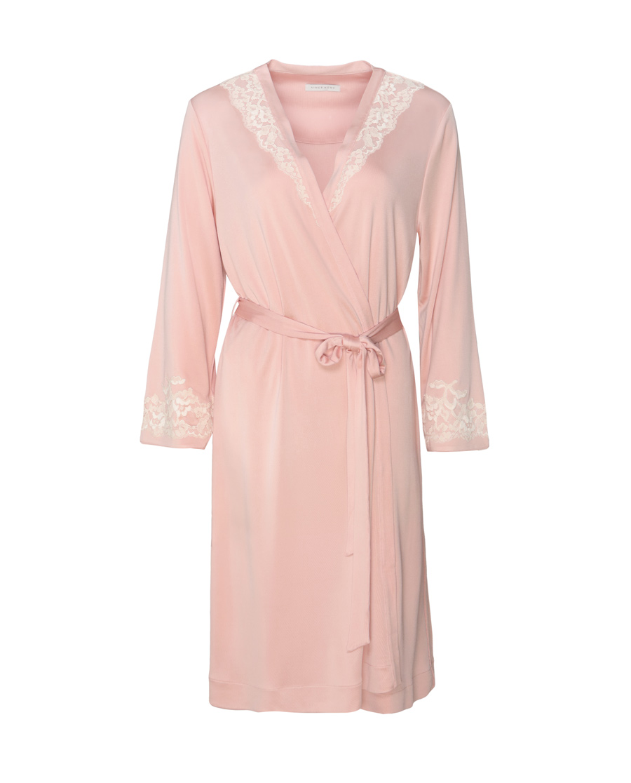 Aimer Home睡衣|爱慕家品奢享丝柔中款家居睡袍AH21G5
