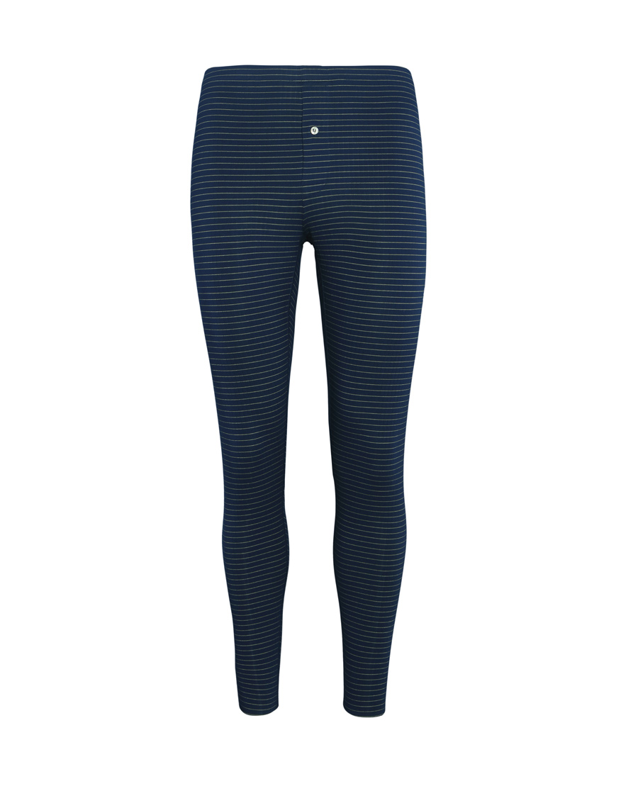 Aimer Men保暖|爱慕先生条纹主题蓝针织长裤NS73A41