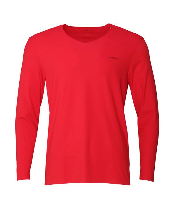 爱慕先生15AW红品系列V领长袖上衣NS72O31