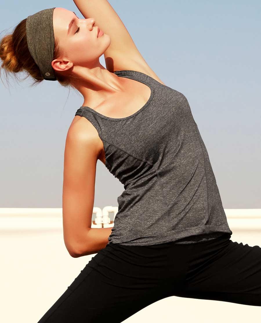 Aimer Sports运动装|爱慕运动伸展自如插杯背心AS141B41