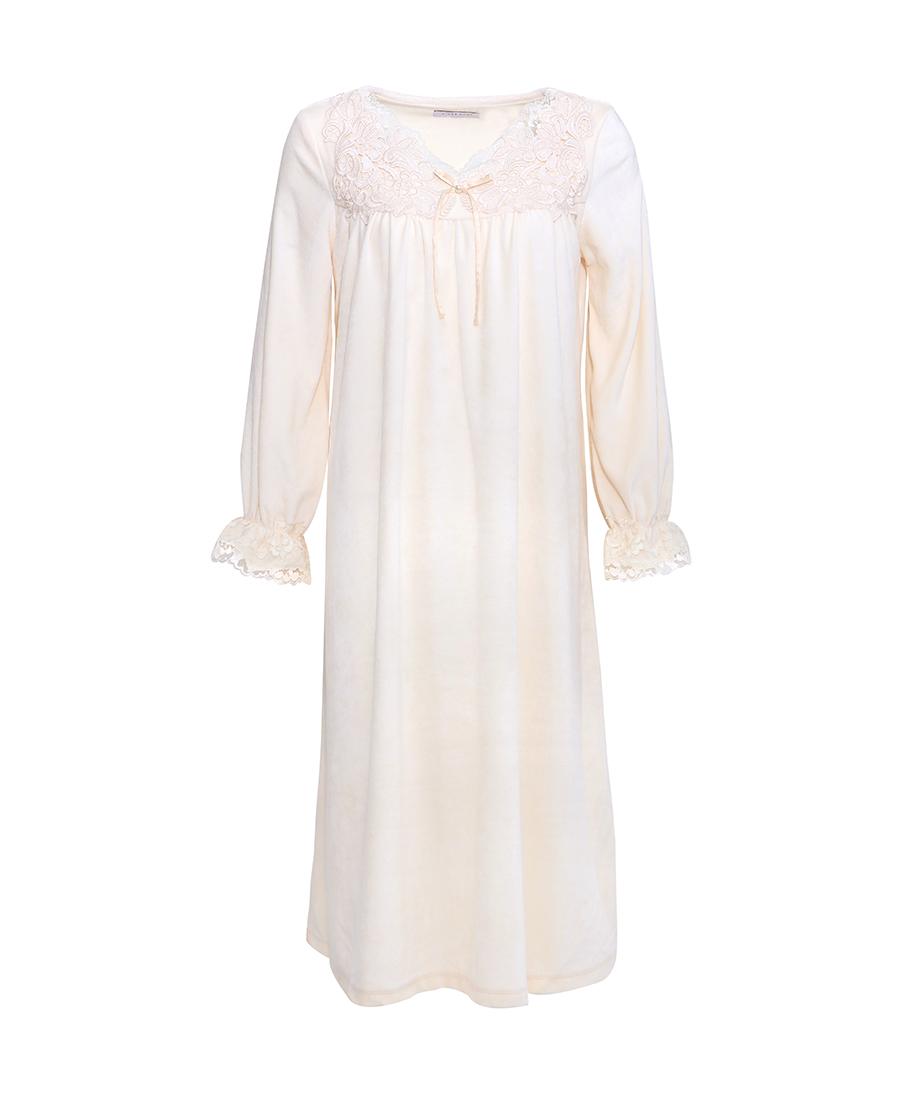 Aimer Home睡衣|爱慕家品简绒公主长款家居睡裙AH21G4