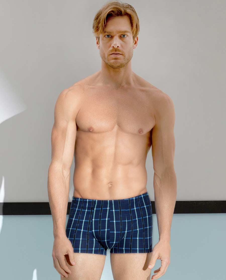 Aimer Men内裤|爱慕先生纵享主题蓝中腰平角内裤NS23A381