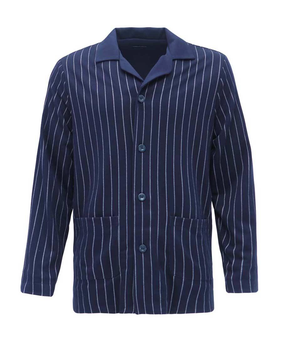 Aimer Men睡衣|爱慕先生绅士条纹家居翻领长袖开衫NS41A301