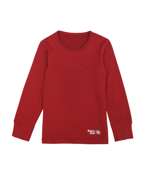 Aimer Kids保暖|爱慕儿童暖尚双层长袖上衣AK372P14