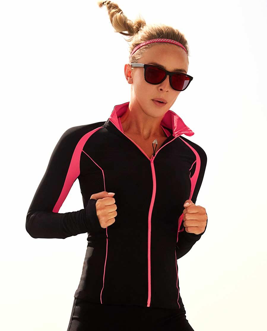 Aimer Sports运动装|爱慕运动荧光训练II立领拉链外套AS144B11