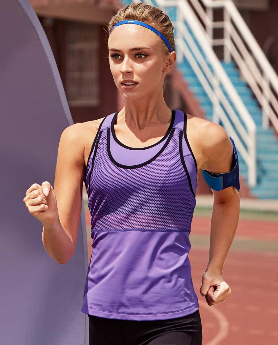 Aimer Sports运动装 爱慕运动智能有杯运动背心AS142931