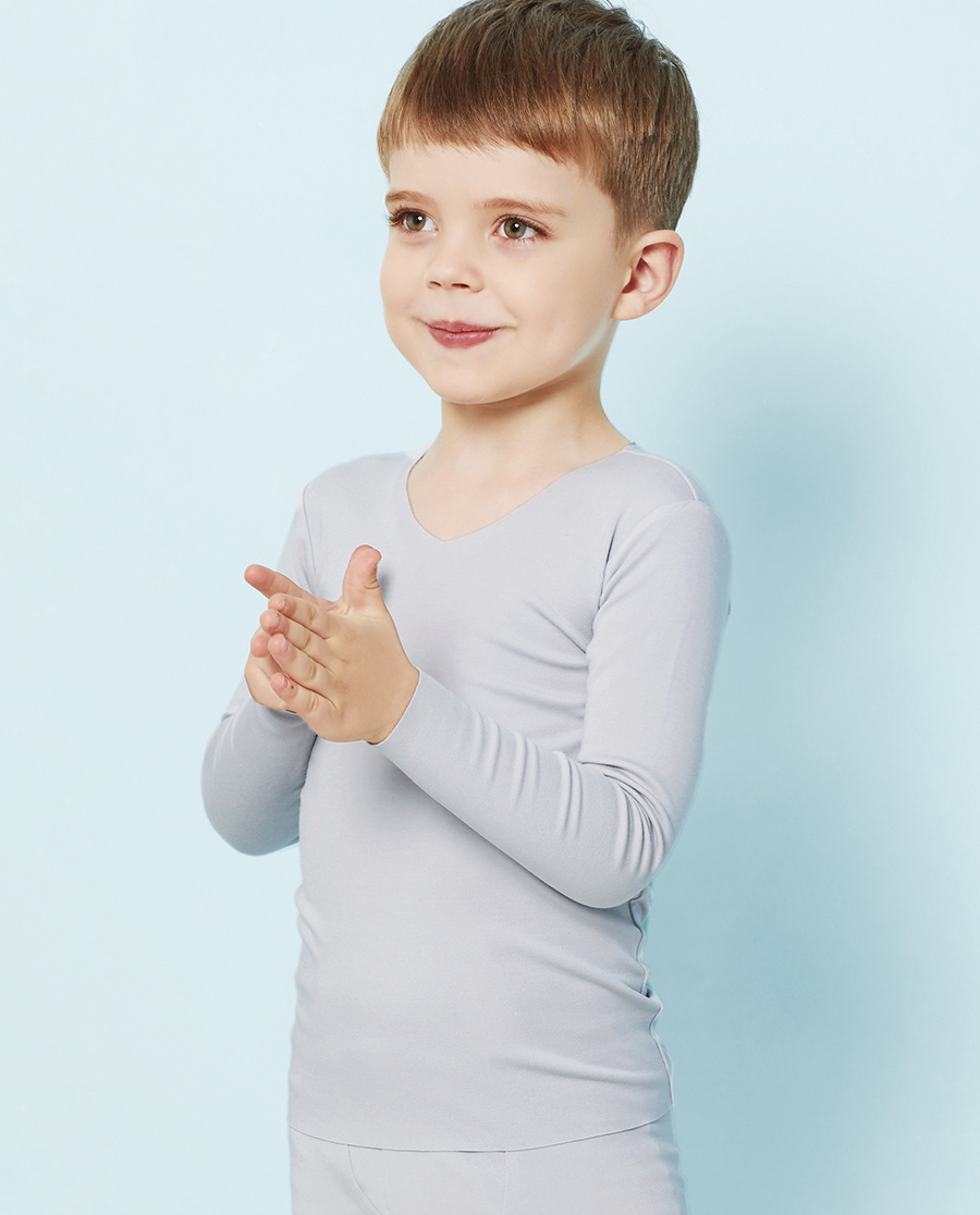 Aimer Kids保暖|爱慕儿童牛奶无痕长袖上衣AK272T51