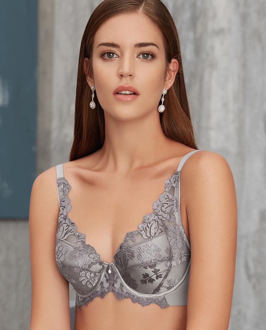 Aimer文胸|爱慕花期至4/4薄无纺布大罩杯文胸AM121261