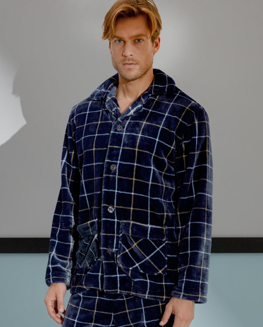 Aimer Men睡衣|爱慕先生珊瑚绒家居长袖上衣NS41A311