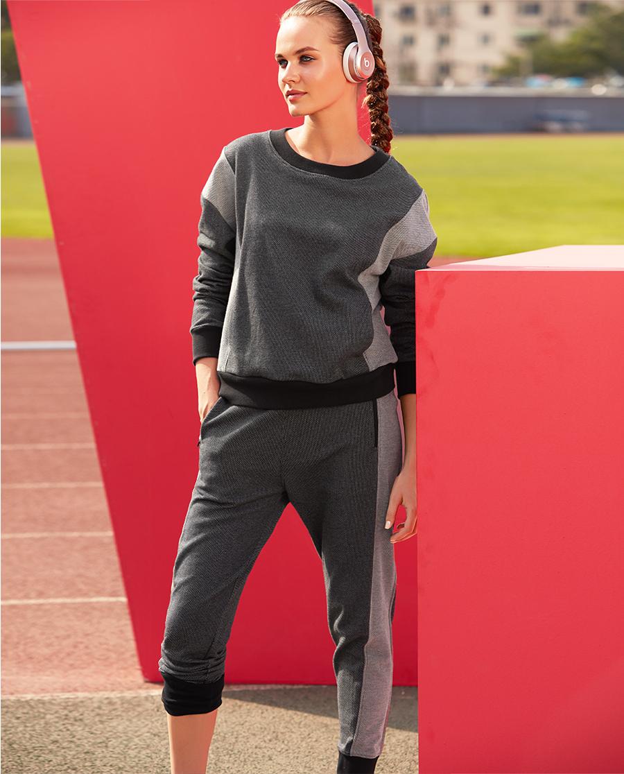 Aimer Sports运动装|爱慕运动伸展自如II收腿长裤AS153B43