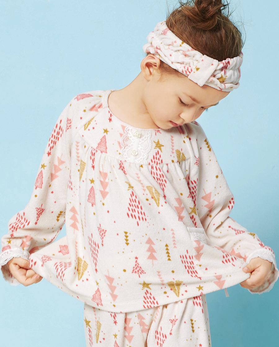Aimer Kids睡衣|爱慕儿童林之语长袖家居上衣AK141T21