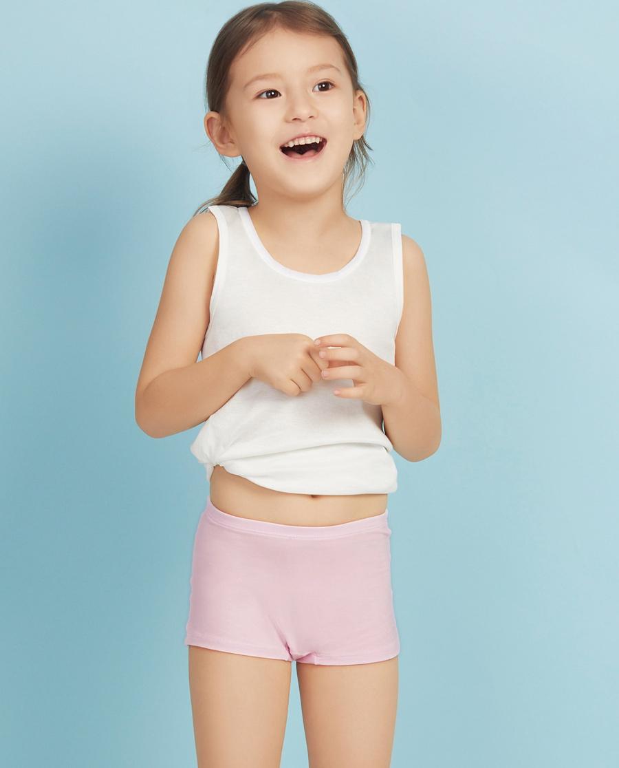 Aimer Kids内裤|ag真人平台儿童天使小裤MODAL中腰平角内裤AK123V21