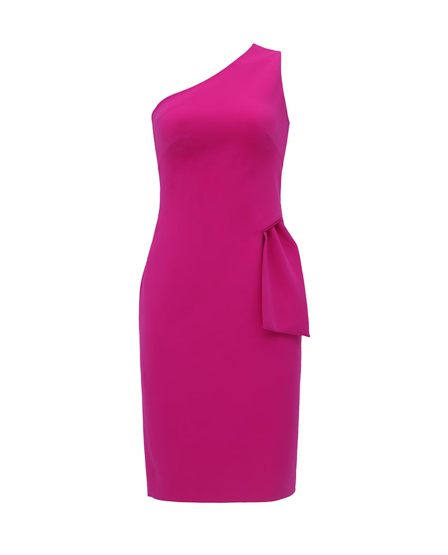 pH15时尚女装|pH15秋冬新品不对称斜肩无袖立裁收腰中
