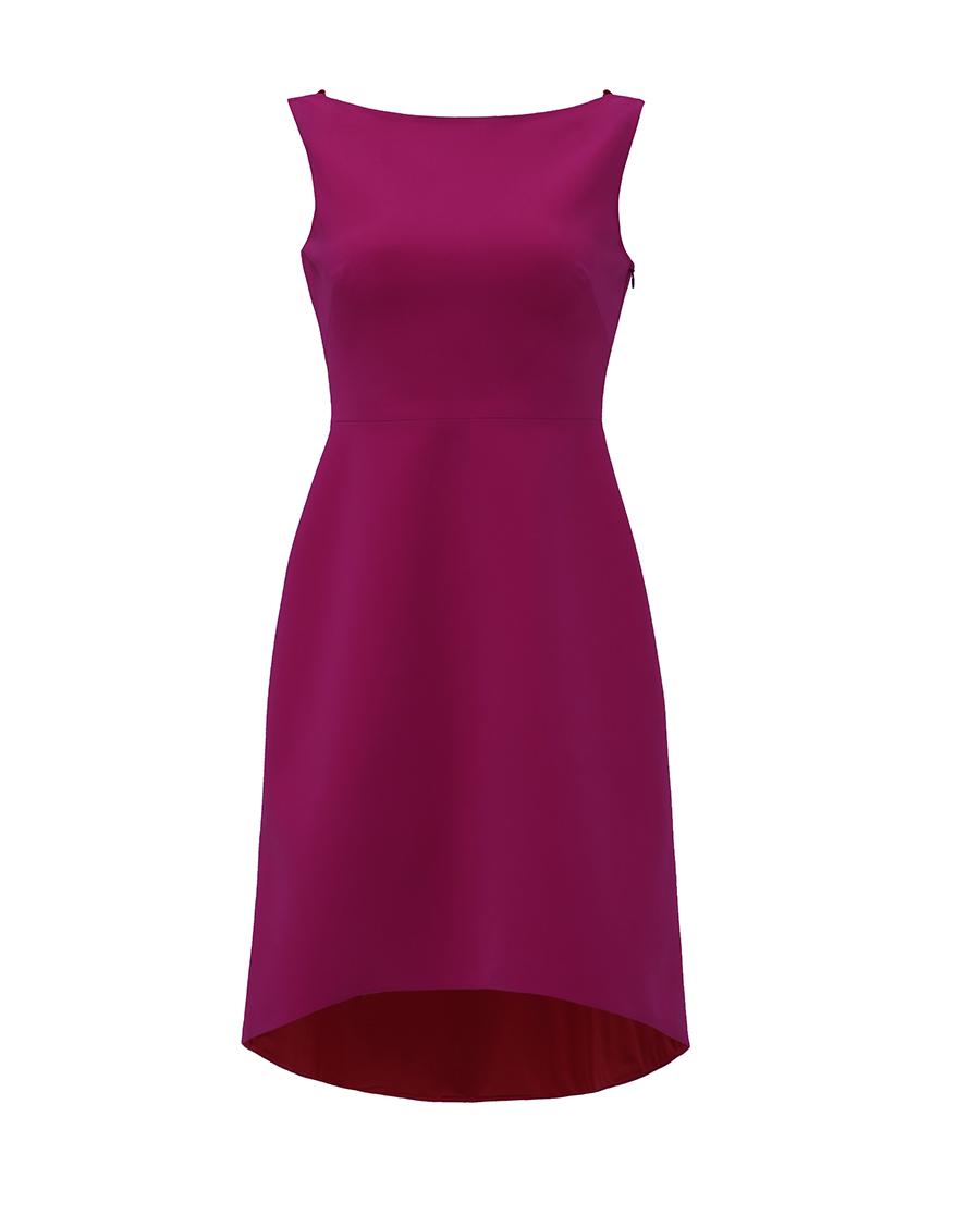 pH15时尚女装|pH15秋冬新品后V领无袖立体装饰前短后长连衣裙PH1571C190
