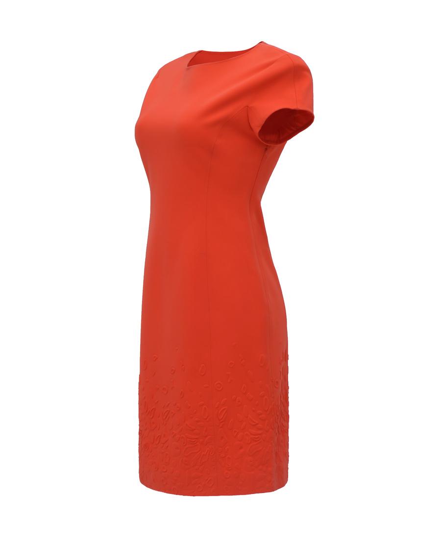 pH15时尚女装|PH15秋冬新品圆领短袖A摆中长款压印收腰连衣裙PH1561C020