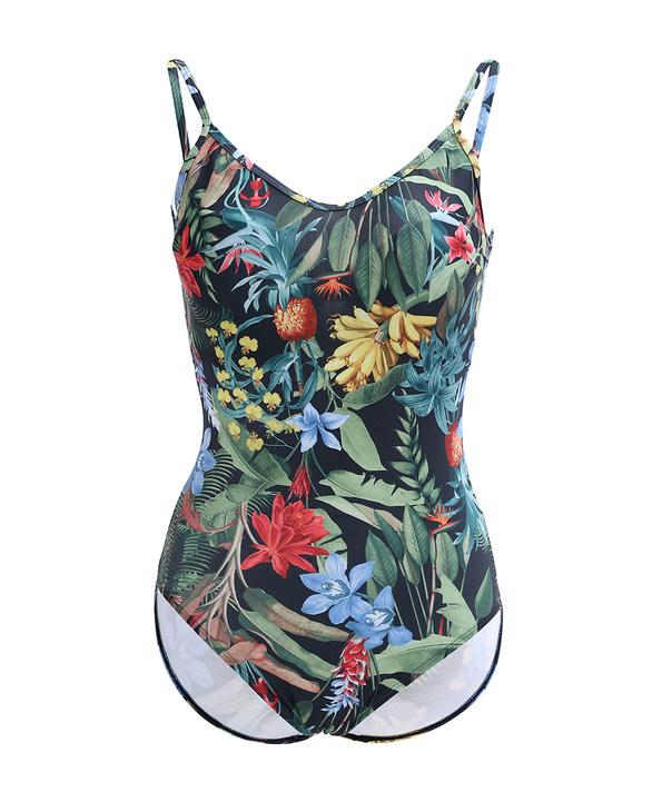 爱慕古堡花园3/4厚杯带钢托连体泳衣AM681641