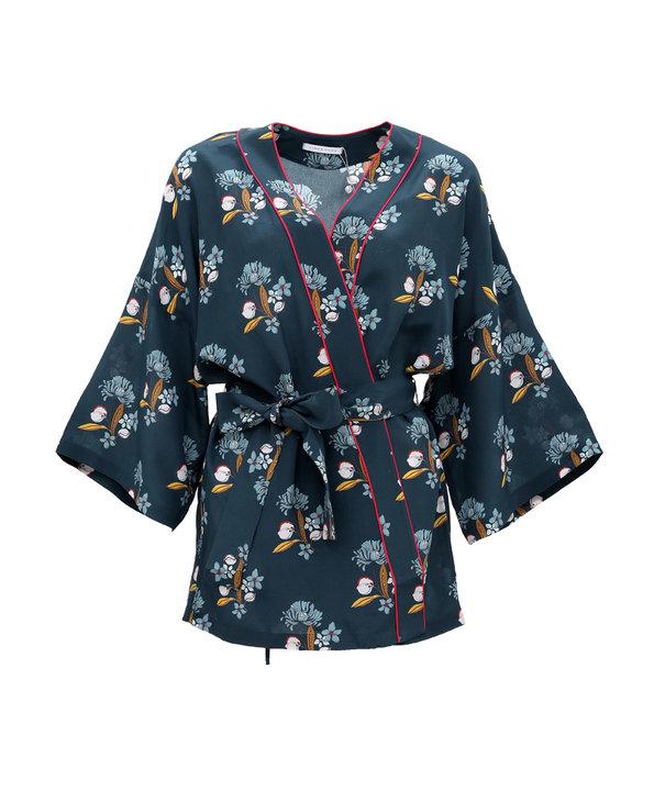 爱慕家品爱乐之城宽袖短款睡袍AH480101