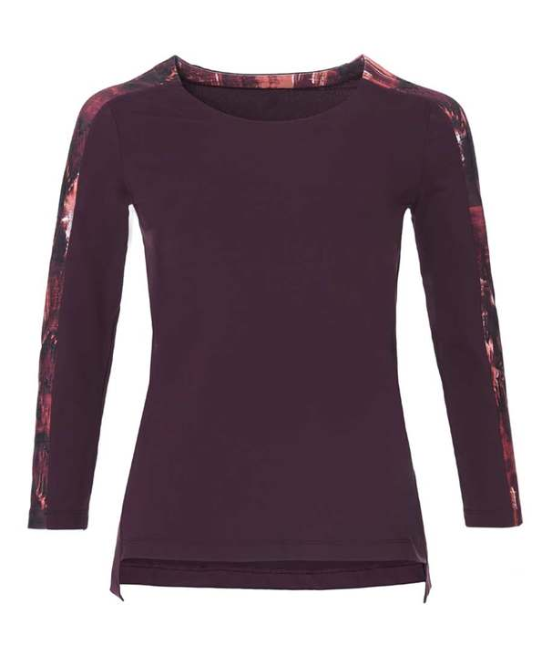 Aimer Sports运动装|爱慕运动能量瑜伽九分袖T恤AS144C41