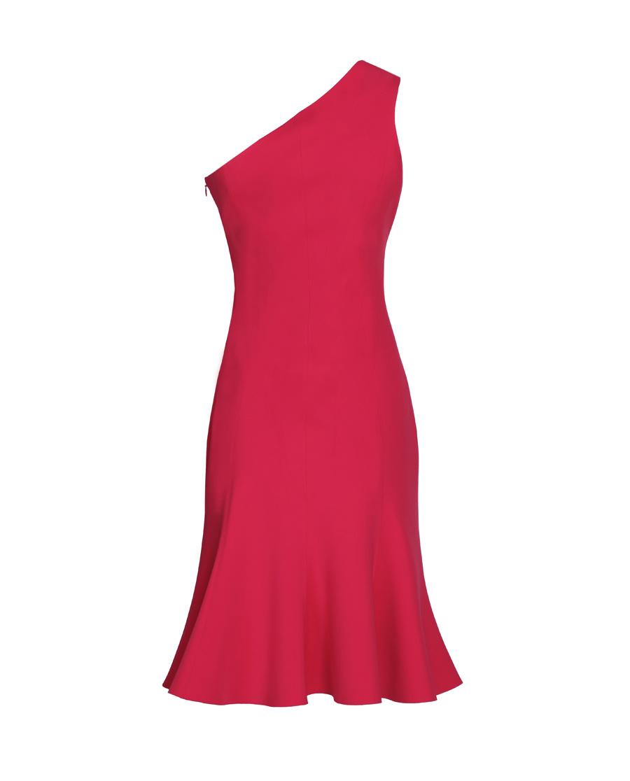 pH15时尚女装|pH15秋冬新品单肩紧身无袖立体鱼摆中长