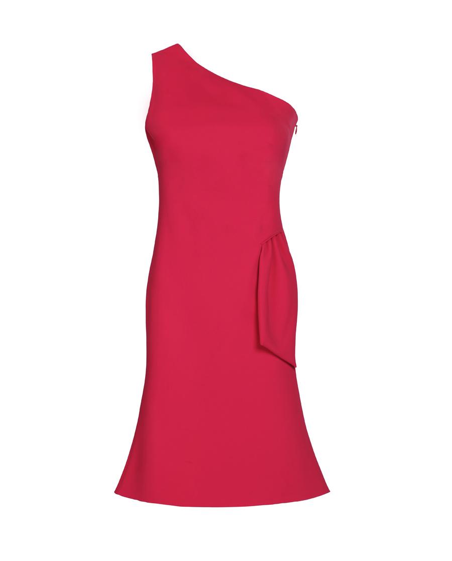 pH15时尚女装|pH15单肩紧身无袖立体鱼摆中长连衣裙P