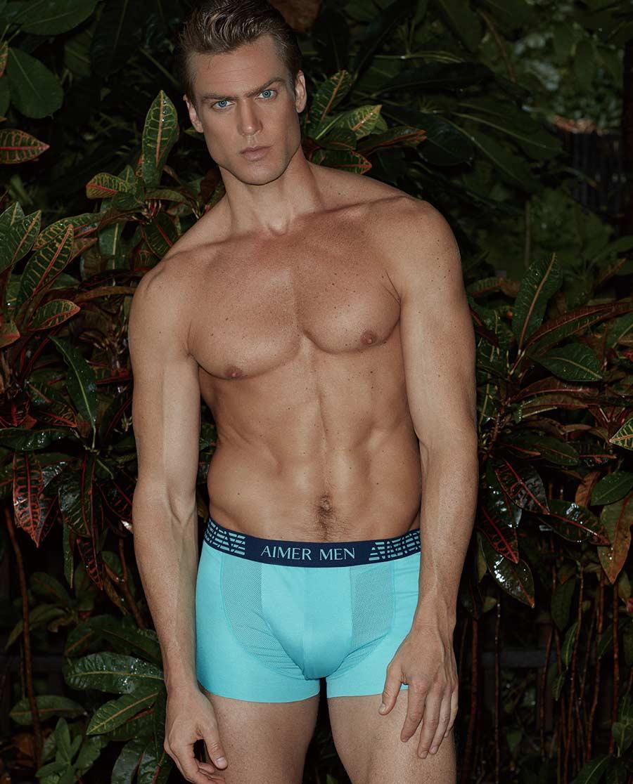 Aimer Men内裤 ag真人平台先生新品纵享丝滑中腰平角内裤NS23A752