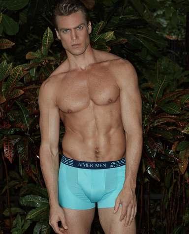 Aimer Men内裤|爱慕先生新品纵享丝滑中腰平角内裤NS23A752