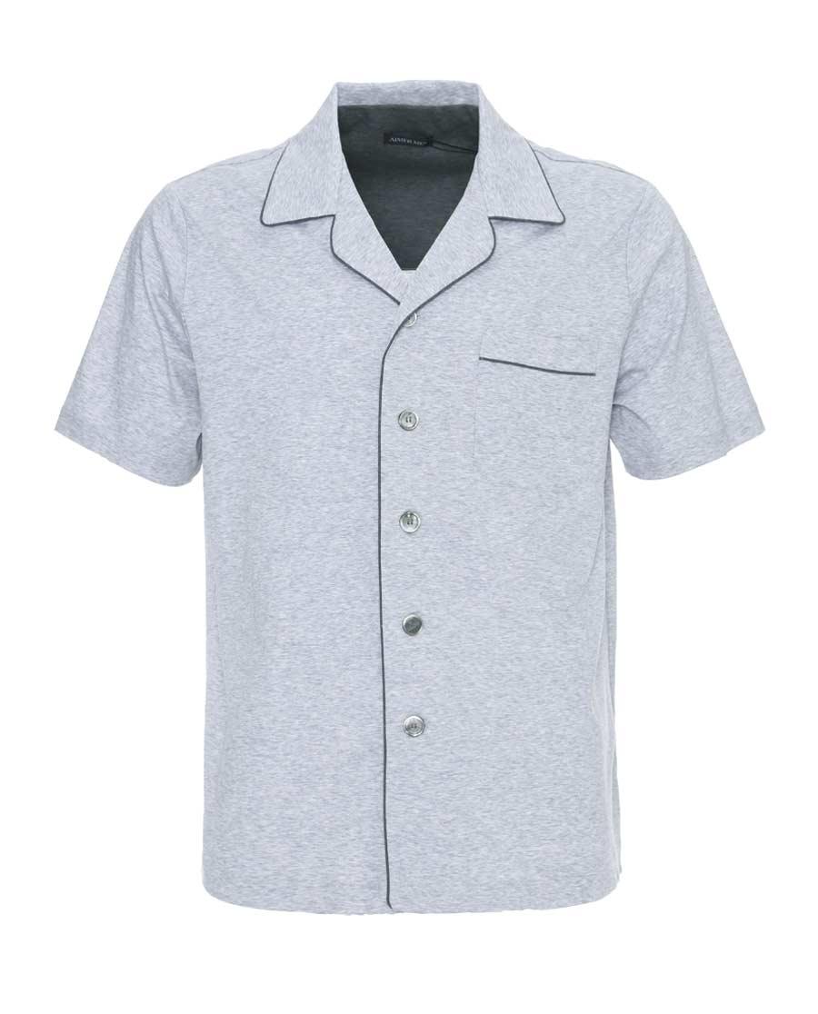 Aimer Men睡衣|爱慕先生新品棉家居开衫短袖上衣NS41A862