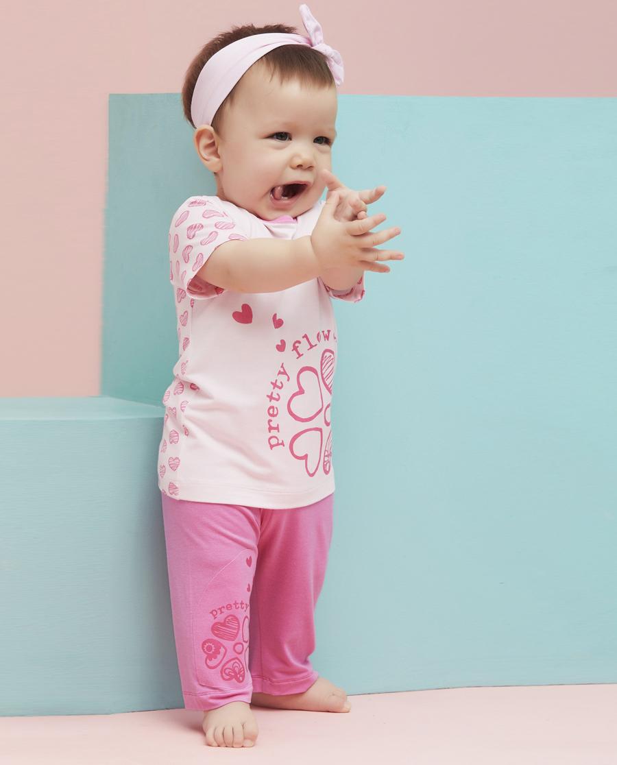 Aimer Baby睡衣|爱慕婴儿心心花海七分裤AB142492