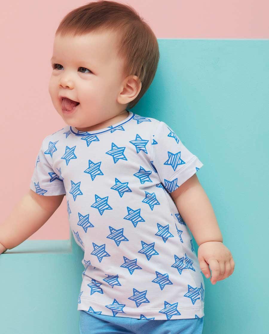 Aimer Baby睡衣|爱慕婴儿小酷星短袖家居上衣AB241492
