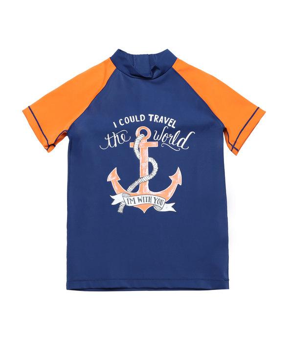 Aimer Kids泳衣|爱慕儿童航海奇遇短袖泳衣AK267X51