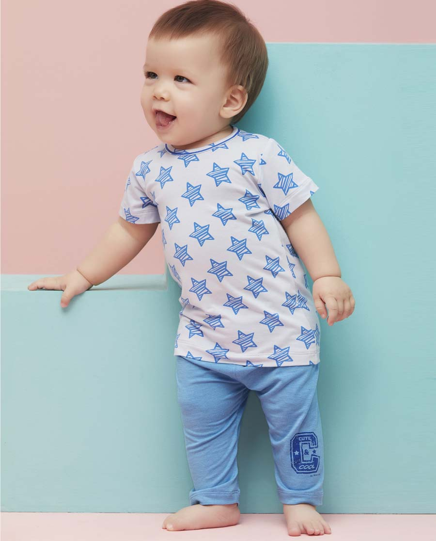 Aimer Baby睡衣|爱慕婴儿小酷星七分裤AB242492