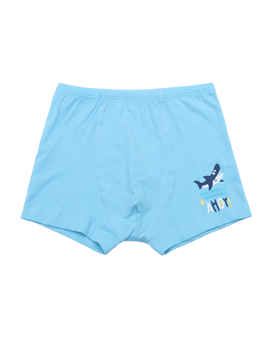 Aimer Kids内裤|爱慕儿童星海小鲨鱼中腰平角内裤两件包AK