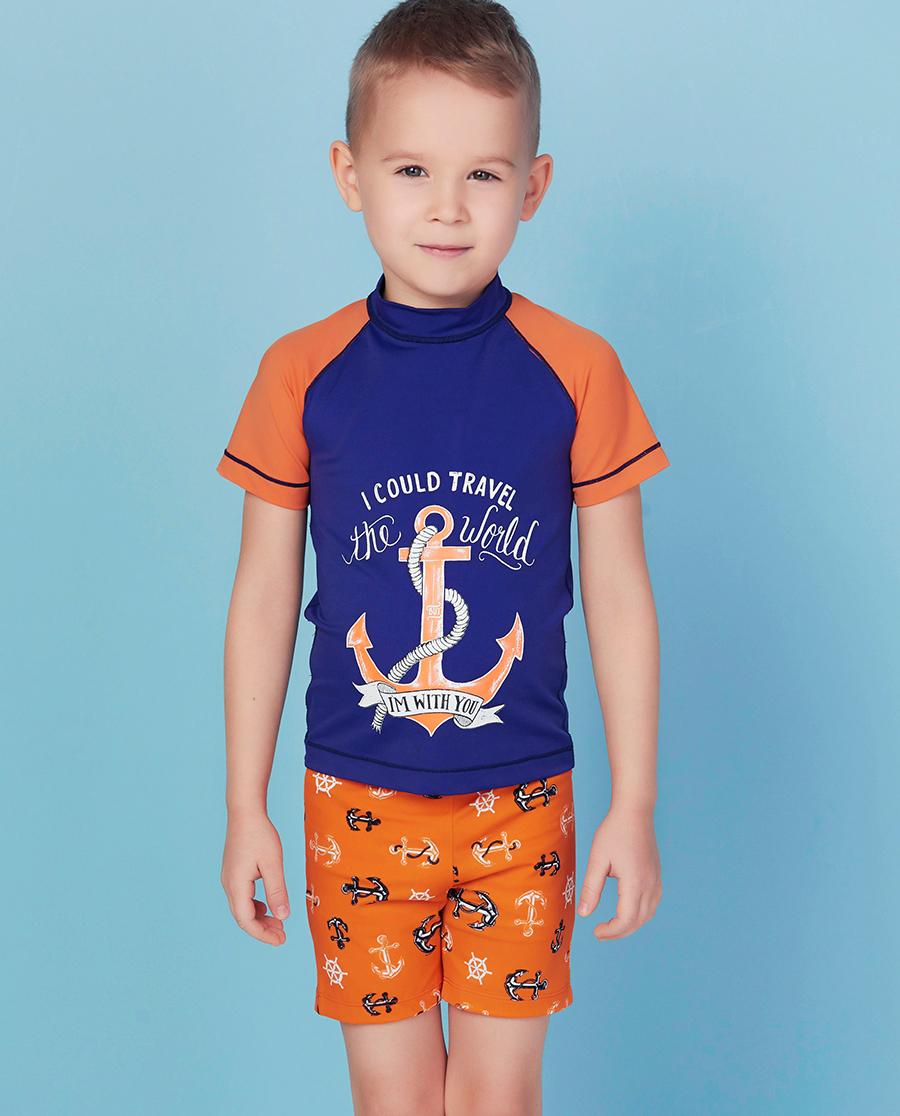 Aimer Kids泳衣|ag真人平台儿童航海奇遇平角泳裤AK267X52