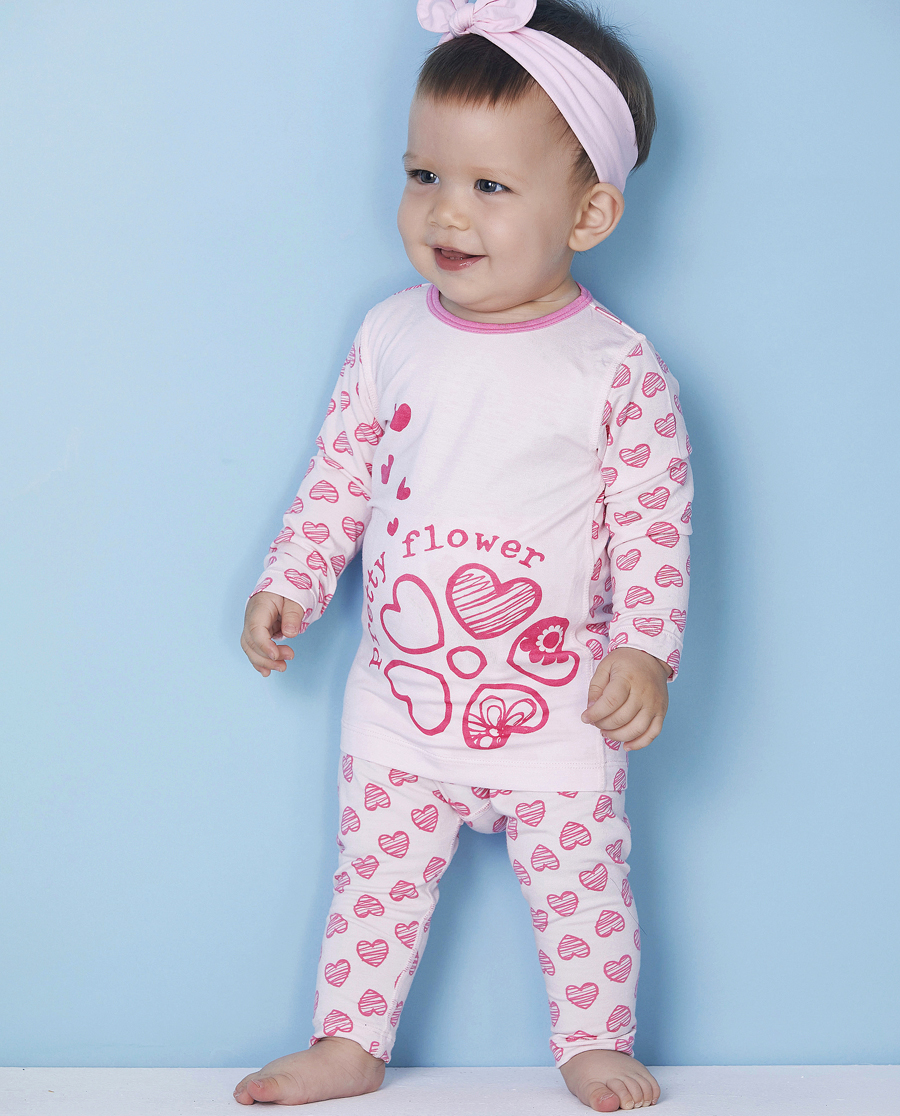 Aimer Baby睡衣|爱慕婴儿心心花海长裤AB142493