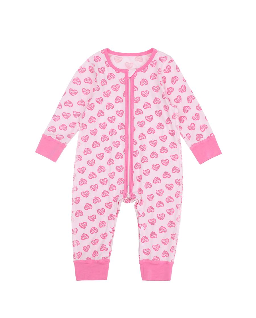 Aimer Baby保暖|爱慕婴儿心心花海长袖连体爬服AB1754