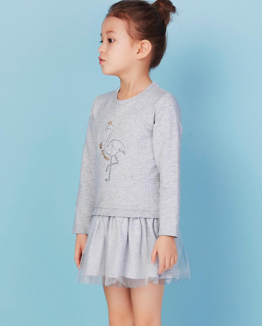 Aimer Kids睡衣|爱慕儿童女童卫衣火烈鸟卫衣裙AK181W82