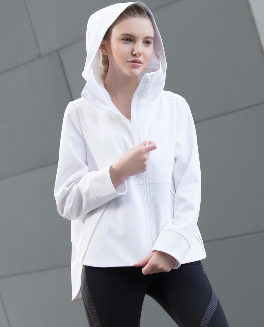 Aimer Sports运动装|爱慕运动环抱支撑带帽拉链外套AS144C62