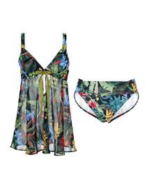 ag真人平台古堡花园带钢托分身裙式泳衣AM671642