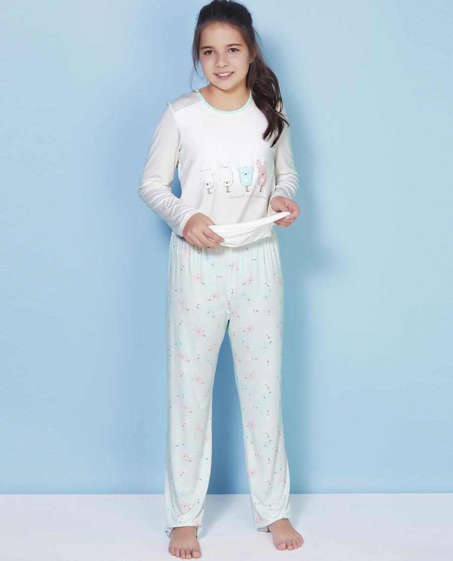 Aimer Kids睡衣|爱慕少女甜蜜雪糕家居长裤AJ142V71