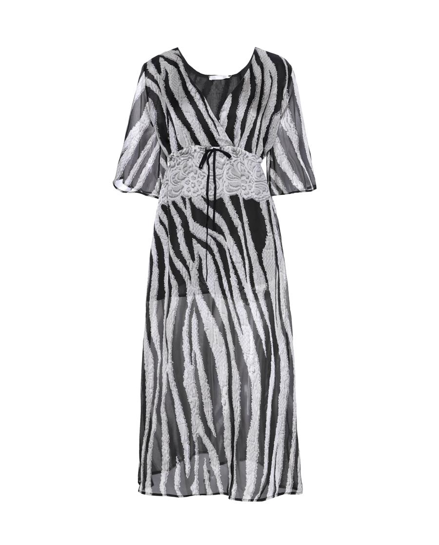 Aimer泳衣|爱慕奢情蕾丝沙滩长裙AM601601