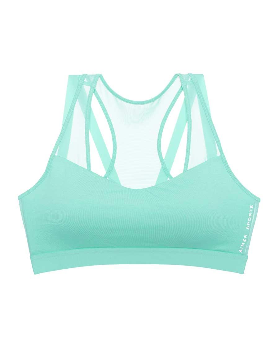 Aimer Sports文胸|爱慕运动春生瑜伽低强度背心式薄模杯文胸A