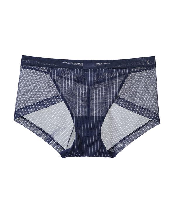 Aimer内裤|爱慕条纹心情中腰平角内裤AM231531