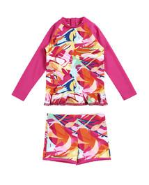 爱慕儿童奇幻花境长袖泳衣套装AK167X51