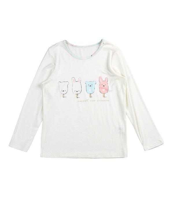 Aimer Kids睡衣|爱慕儿童甜蜜雪糕长袖家居上衣AK141V71