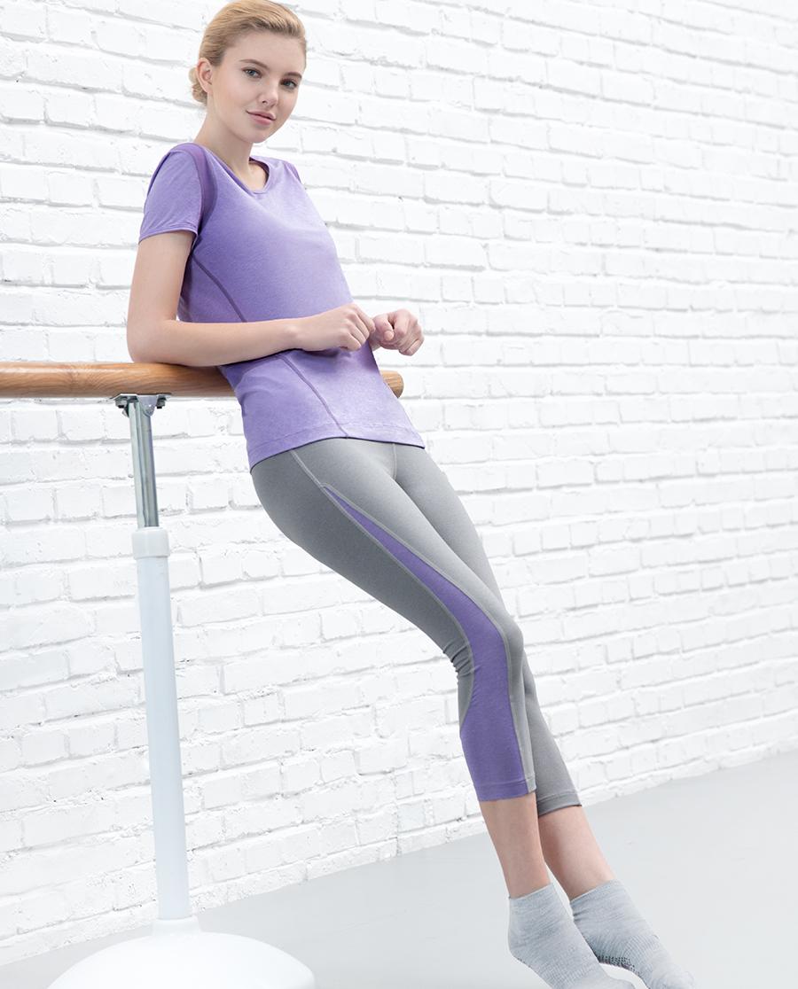 Aimer Sports运动装|爱慕运动春生瑜伽七分裤AS152C81