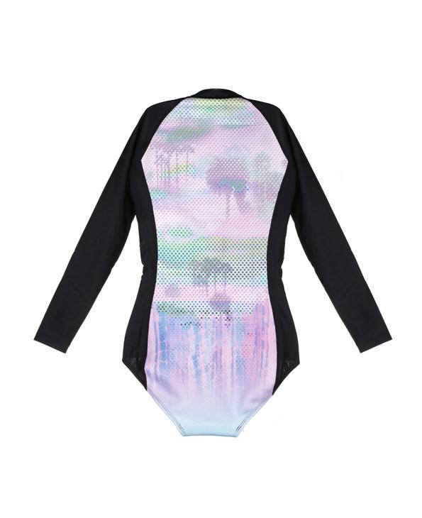 imi's泳衣|爱美丽泳衣迈阿密海滩钢托3/4模杯长袖连体两件套IM68AMM2