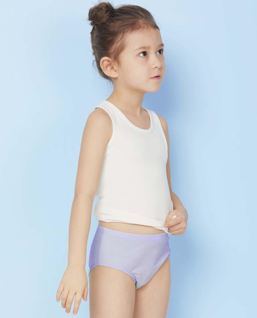 Aimer Kids内裤|ag真人平台儿童天使小裤MODAL中腰三角内裤AK122V21