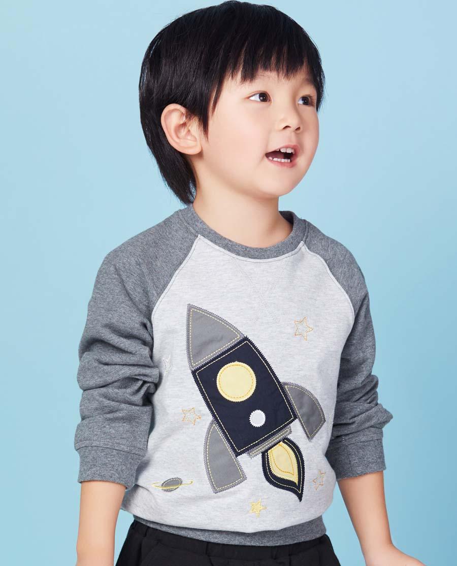 Aimer Kids睡衣|爱慕儿童男童卫衣火箭套头卫衣AK281W82