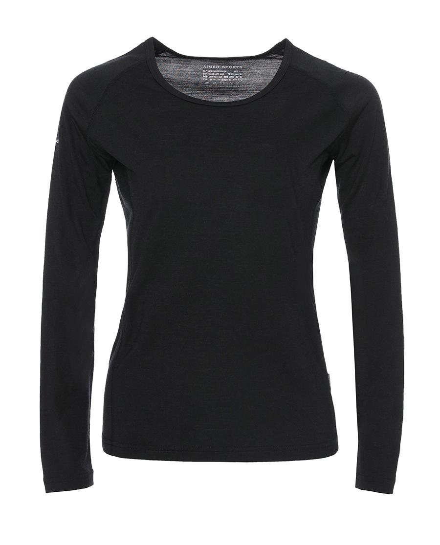 Aimer Sports睡衣|爱慕运动零度打底长袖上衣AS144A91