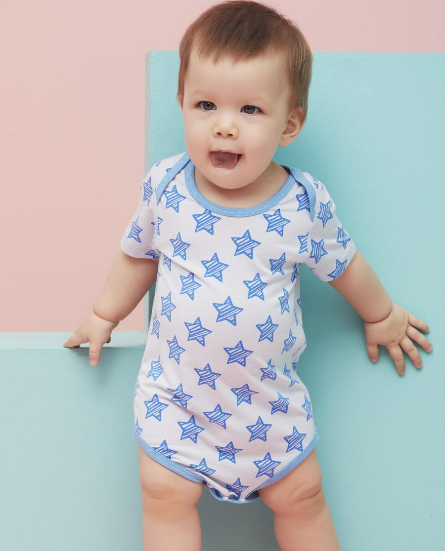 Aimer Baby保暖|爱慕婴儿小酷星短袖无腿连体爬服AB275492